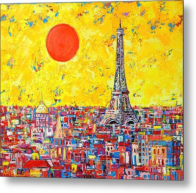 Paris In Sunlight Metal Print