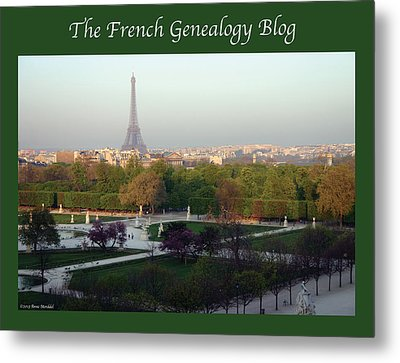 Paris In The Fall With Fgb Border Metal Print