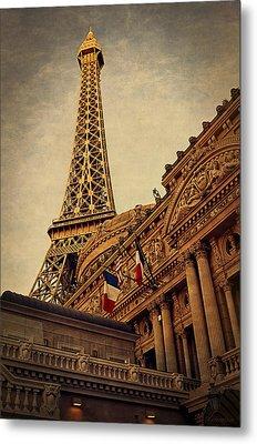 Paris - Las Vegas Metal Print