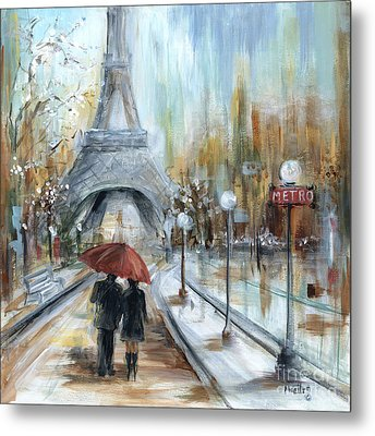Paris Lovers I Metal Print