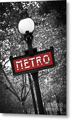 Paris Metro Metal Print by Elena Elisseeva