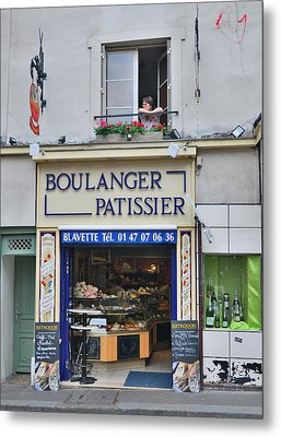 Paris Patissier Metal Print by Steven Richman