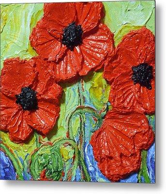 Paris' Red Poppies Metal Print by Paris Wyatt Llanso