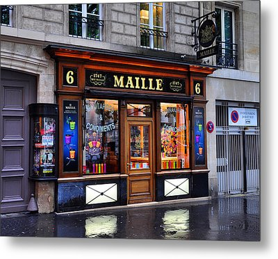 Paris Shop Metal Print