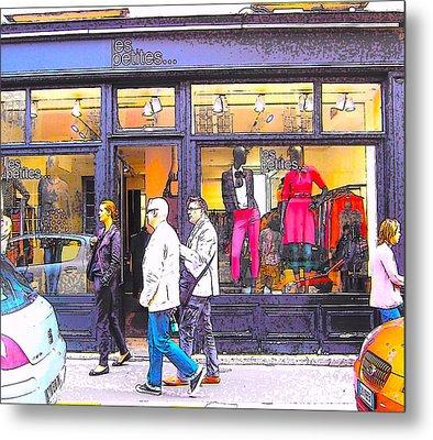 Paris Shopping Metal Print by Jan Matson