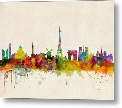 Paris Skyline Metal Print by Michael Tompsett