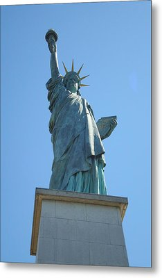 Metal Print featuring the photograph Paris Statue Of Liberty by Kay Gilley
