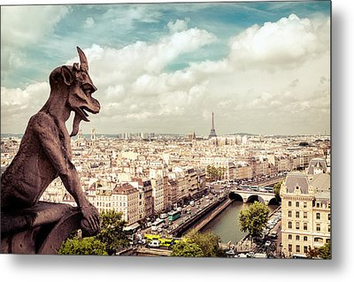 Paris - The City From Above Metal Print by Vivienne Gucwa