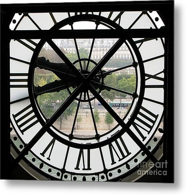 Metal Print featuring the photograph Paris Time by Ann Horn