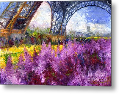 Paris Tour Eiffel 01 Metal Print by Yuriy  Shevchuk