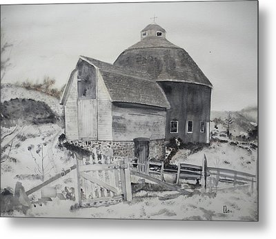 Parish Barn Metal Print