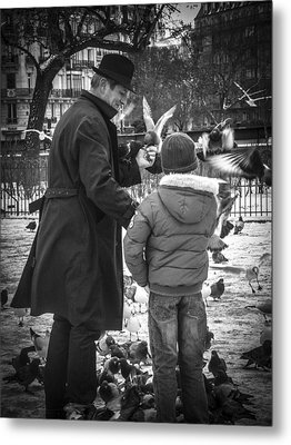 Parisian Father And Son Metal Print
