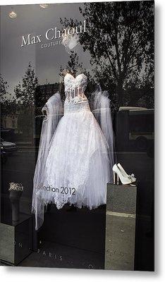 Parisian Wedding Dress Metal Print by Glenn DiPaola