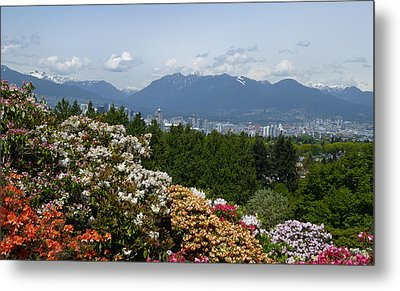 Metal Print featuring the photograph Park And City View by Laurie Tsemak
