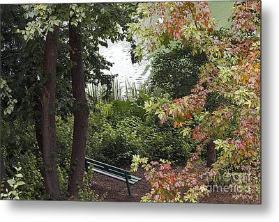 Metal Print featuring the photograph Park Bench by Kate Brown