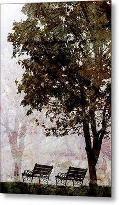 Park Benches Metal Print by Carol Leigh