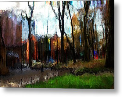 Metal Print featuring the mixed media Park Block I by Terence Morrissey