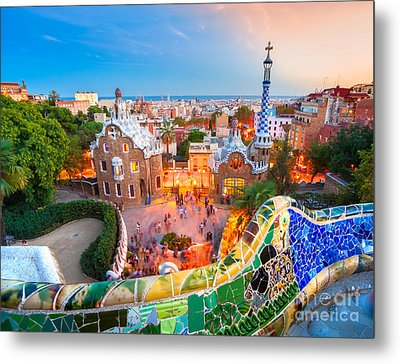 Park Guell In Barcelona - Spain Metal Print