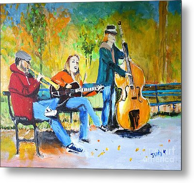 Metal Print featuring the painting Park Serenade by Judy Kay