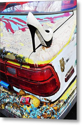 Parked On A New York Street 3 Metal Print by Sarah Loft