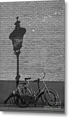 Parked Under The Lamp Post Metal Print