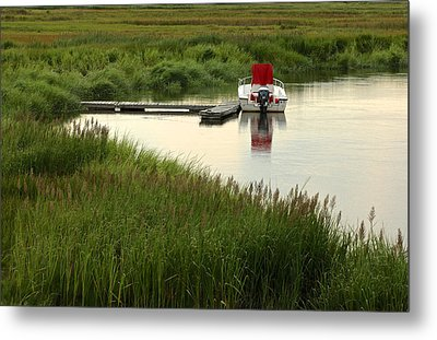 Parker River Boat Metal Print by Gail Maloney