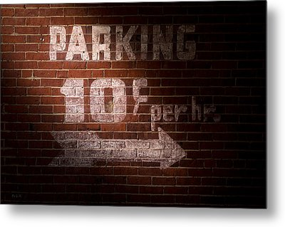 Parking Ten Cents Metal Print by Bob Orsillo