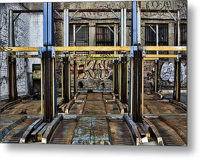 Parking Unreality Metal Print by Joanna Madloch