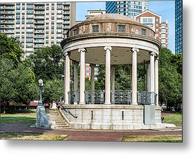 Metal Print featuring the photograph Parkman Bandstand In Boston Public Garden by Boris Mordukhayev