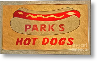 Park's Hot Dogs Metal Print by Gregory Dyer