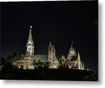 Metal Print featuring the photograph Parliament From The Park by Robert Culver