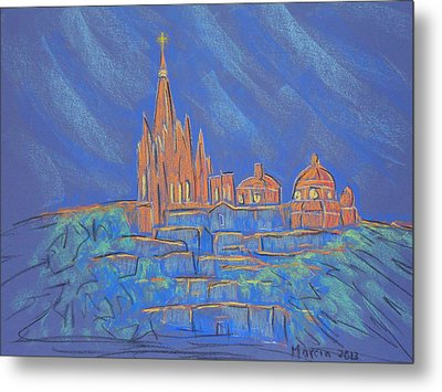 Parroquia From Below Metal Print by Marcia Meade