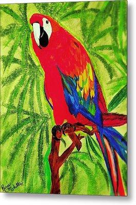 Parrot In Paradise Metal Print