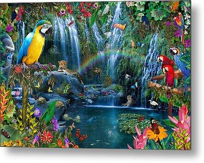 Parrot Tropics Metal Print by Alixandra Mullins