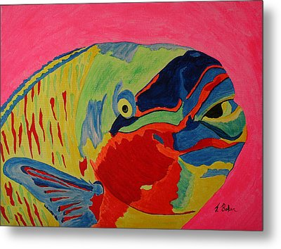 Parrotfish Metal Print by Tony Baker