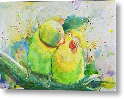 Parrots Metal Print by Catf