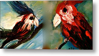 Parrots Metal Print by Pretchill Smith