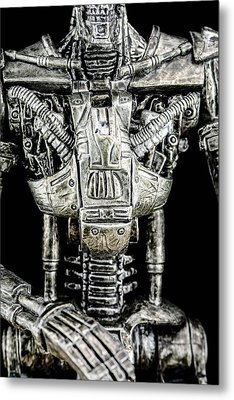 Part Of A The Terminator  Metal Print by Tommytechno Sweden