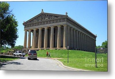 Parthenon In Nashville Metal Print by Paula Talbert