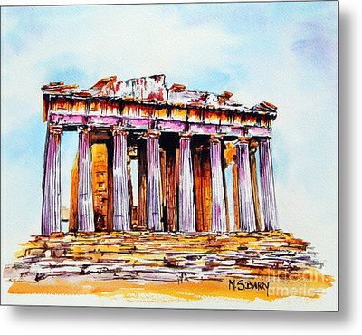 Parthenon Metal Print by Maria Barry
