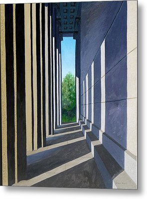 Parthenon Shadows Metal Print by Dillard Adams