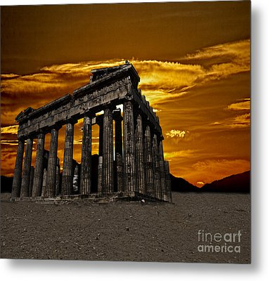 Parthenon Metal Print by Shirley Mangini