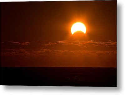 Partial  Eclipse Of The Sun Metal Print