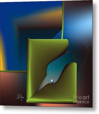 Particle Metal Print by Leo Symon