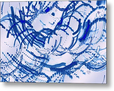 Particles Of Blue Metal Print by Kellice Swaggerty