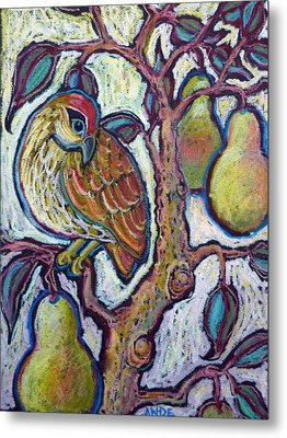 Partridge In A Pear Tree 1 Metal Print by Ande Hall