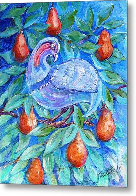 Partridge In A Pear Tree  Metal Print by Trudi Doyle