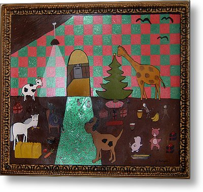 Party Animals  Metal Print by Yvonne  Kroupa