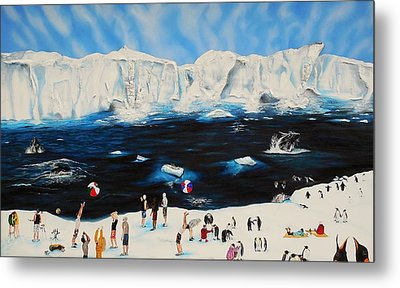 Party At Antarctic Metal Print