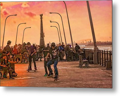 Party At The Pier Metal Print by Terry Cork